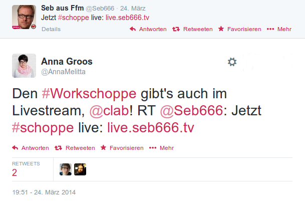 Livesteam Tweet